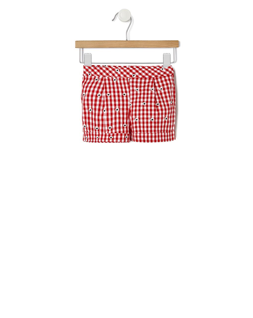 Pantaloncino vicky con allover ricamo floreale - Prénatal