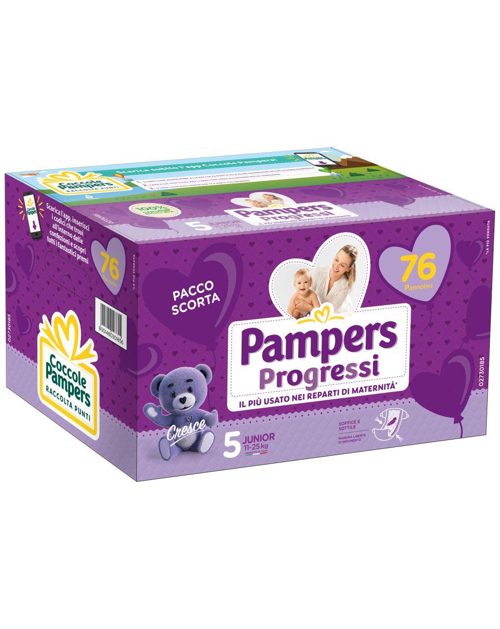 Pannolini quadri progressi tg. 5 (76 pz) - Pampers