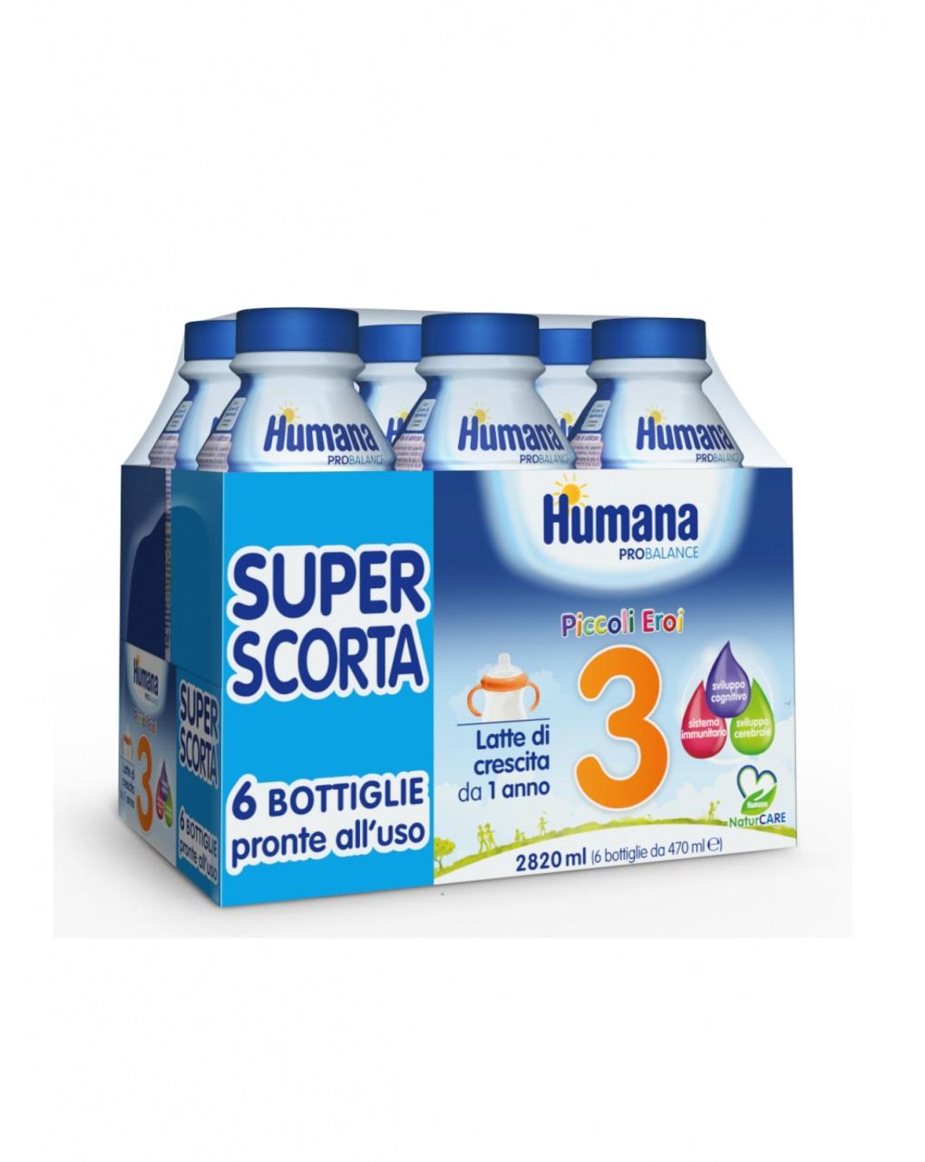 Latte humana 3 liquido 6x470ml - Humana