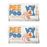 The Pee and the poo taglia 4 (2pack - 80 pz)