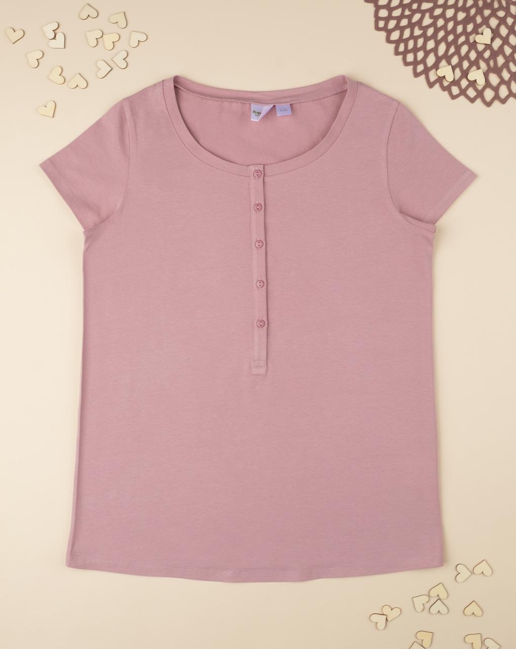 T-shirt pigiama rosa mix & match - Prénatal