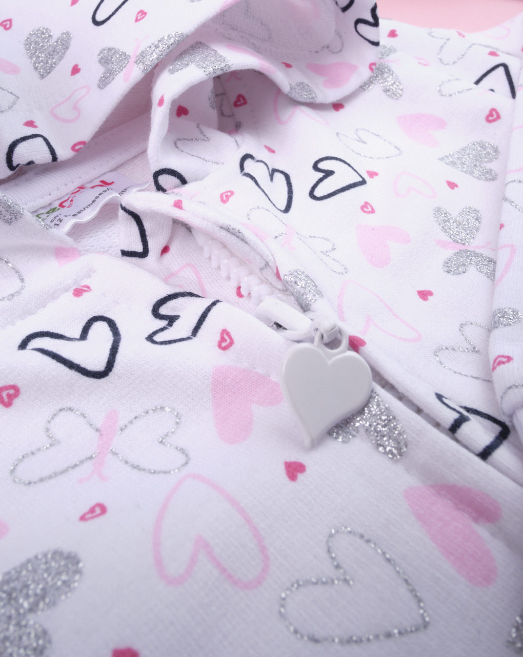 "Felpa da bimba allover ""hearts"" - Prénatal"