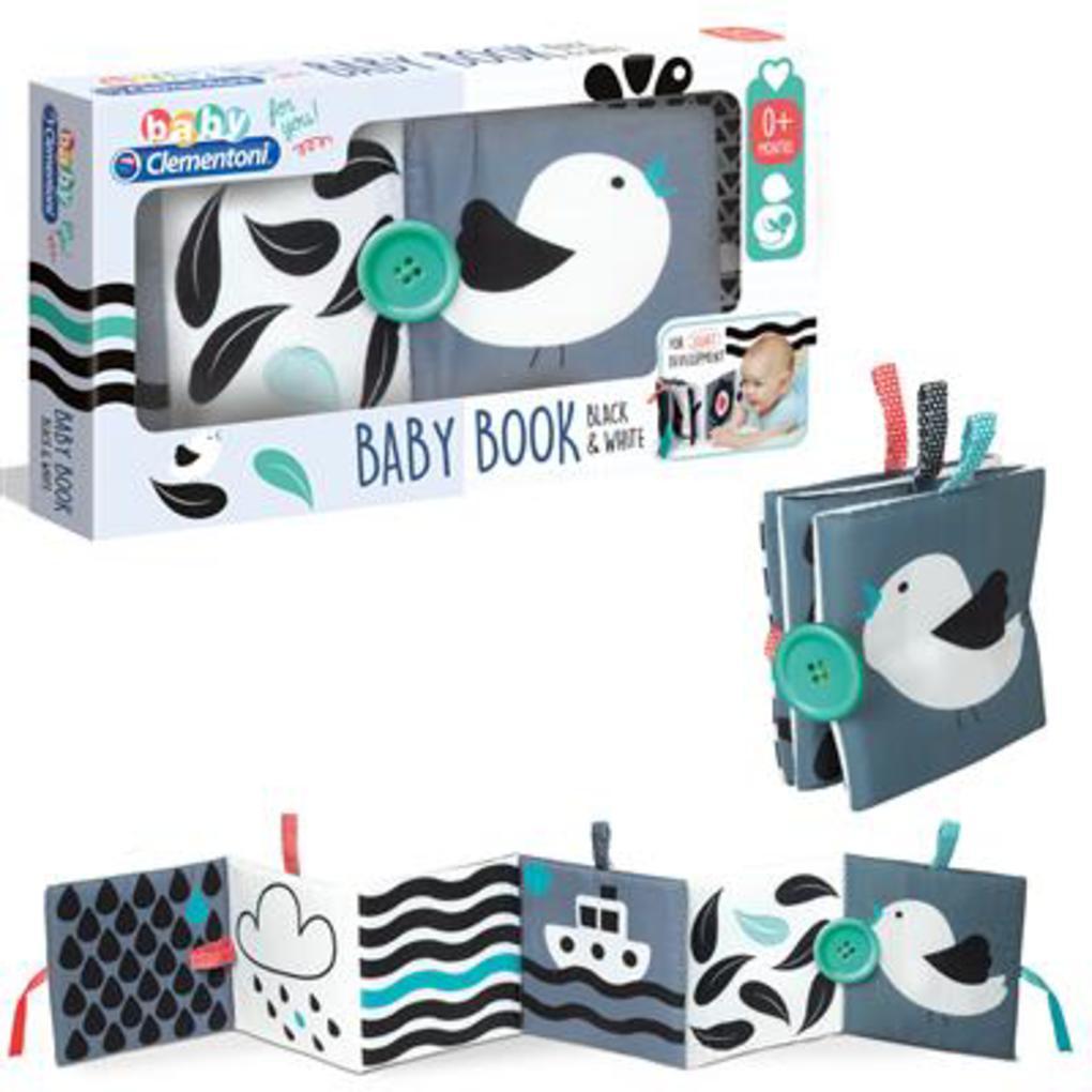 Baby clementoni - black & white baby book - Clementoni