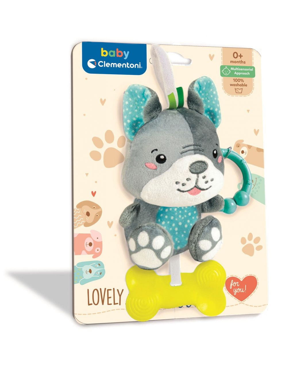Baby clementoni - lovely dog rattle - Clementoni