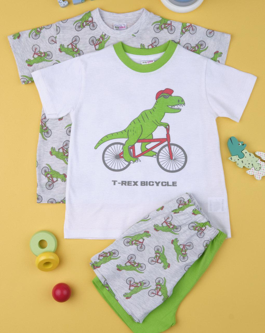 """Pack 2 pigiami bimbo """"dinosauri"""" - Prénatal"""