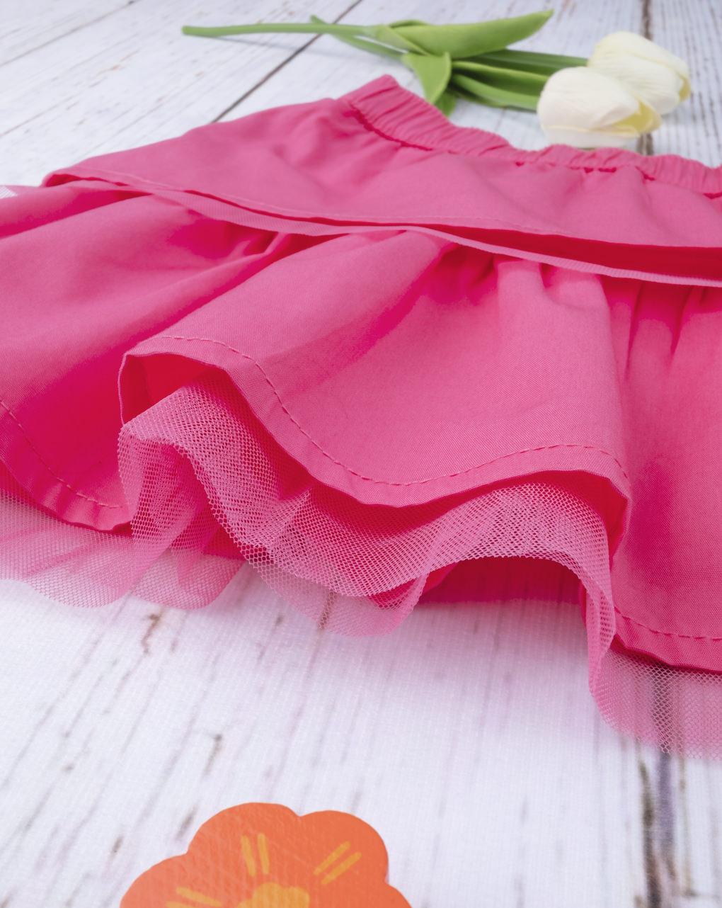 Gonna a balze rosa shocking - Prénatal