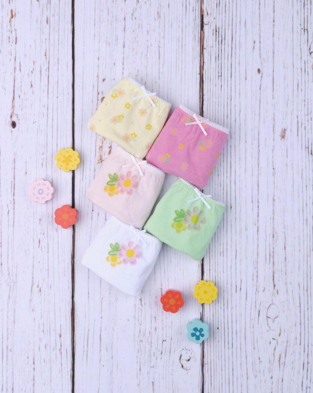 "Pack 5 slip da bimba ""flower"" - Prénatal"