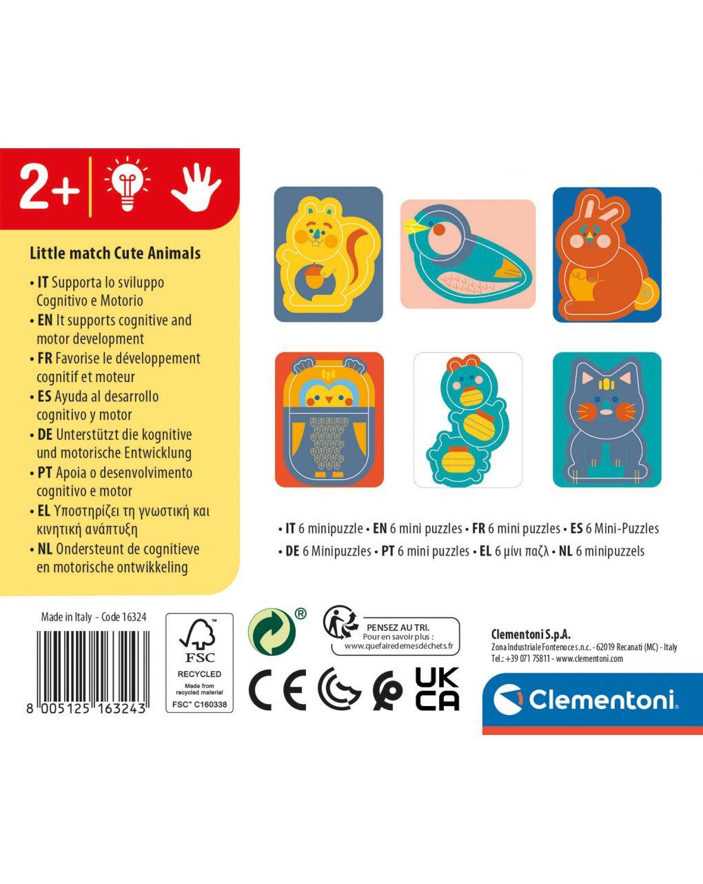 Clementoni - little match animali - Clementoni