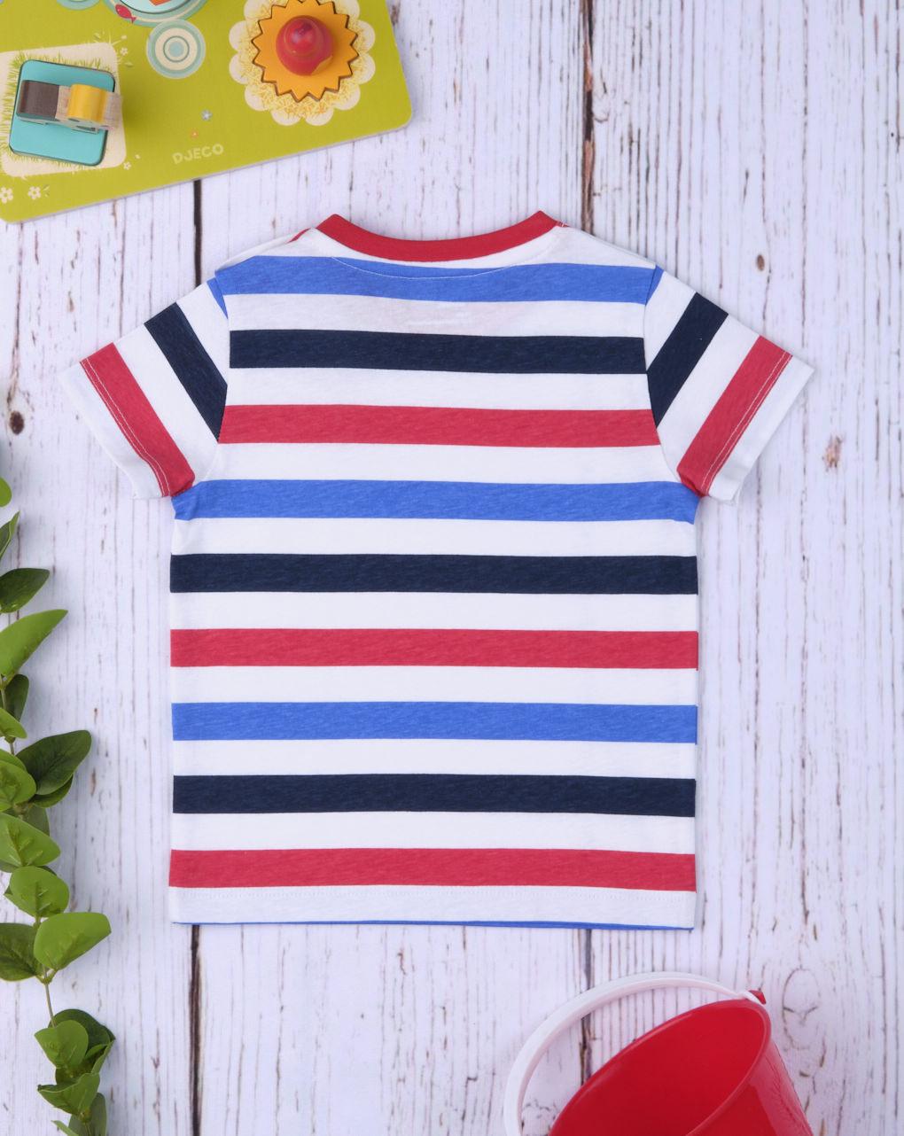 """T-shirt boy """"rosso & blu"""" - Prénatal"""