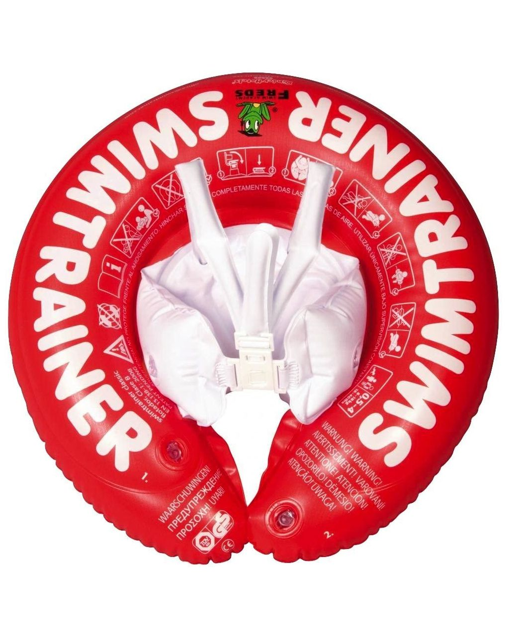 Salvagente con mutandina swimtrainer rosso 6-18 kg - Fred Swim Academy