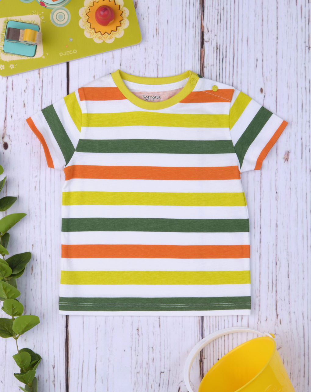 "T-shirt boy ""verde & giallo"" - Prénatal"