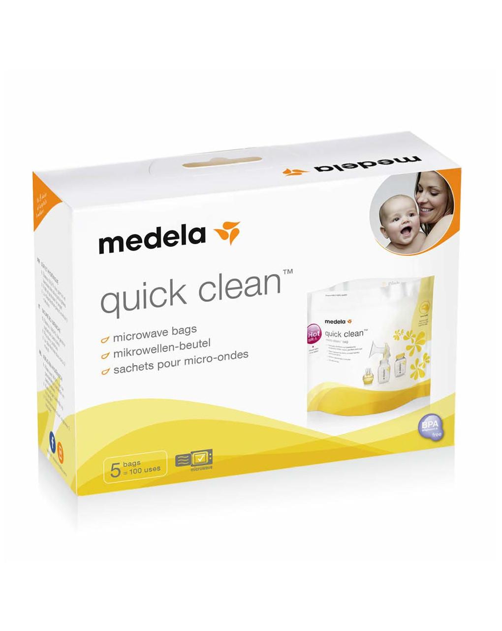 Sacche per sterilizzazione in microonde quick clean - Medela