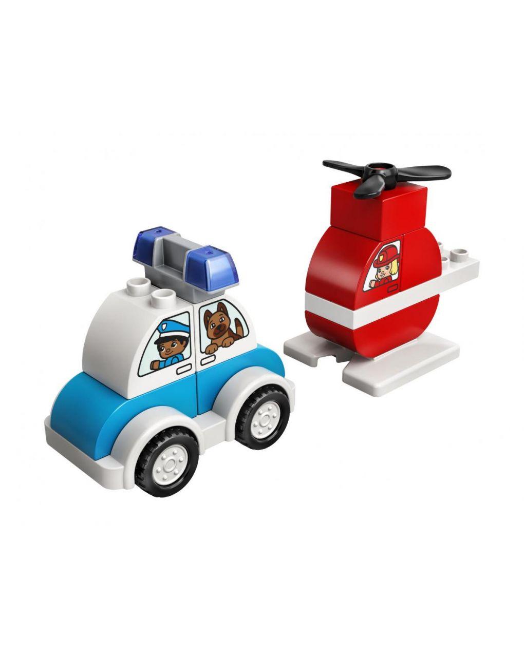 Lego duplo -  elicottero antincendio e auto della polizia - LEGO Duplo