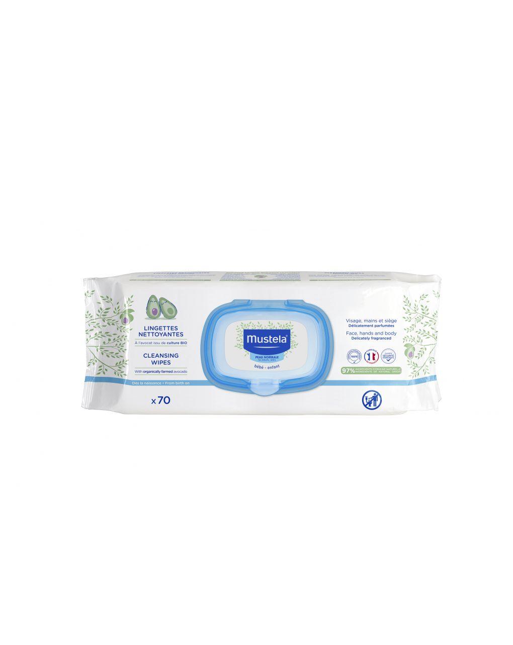 Salviette detergenti con profumo 70 pezzi - Mustela