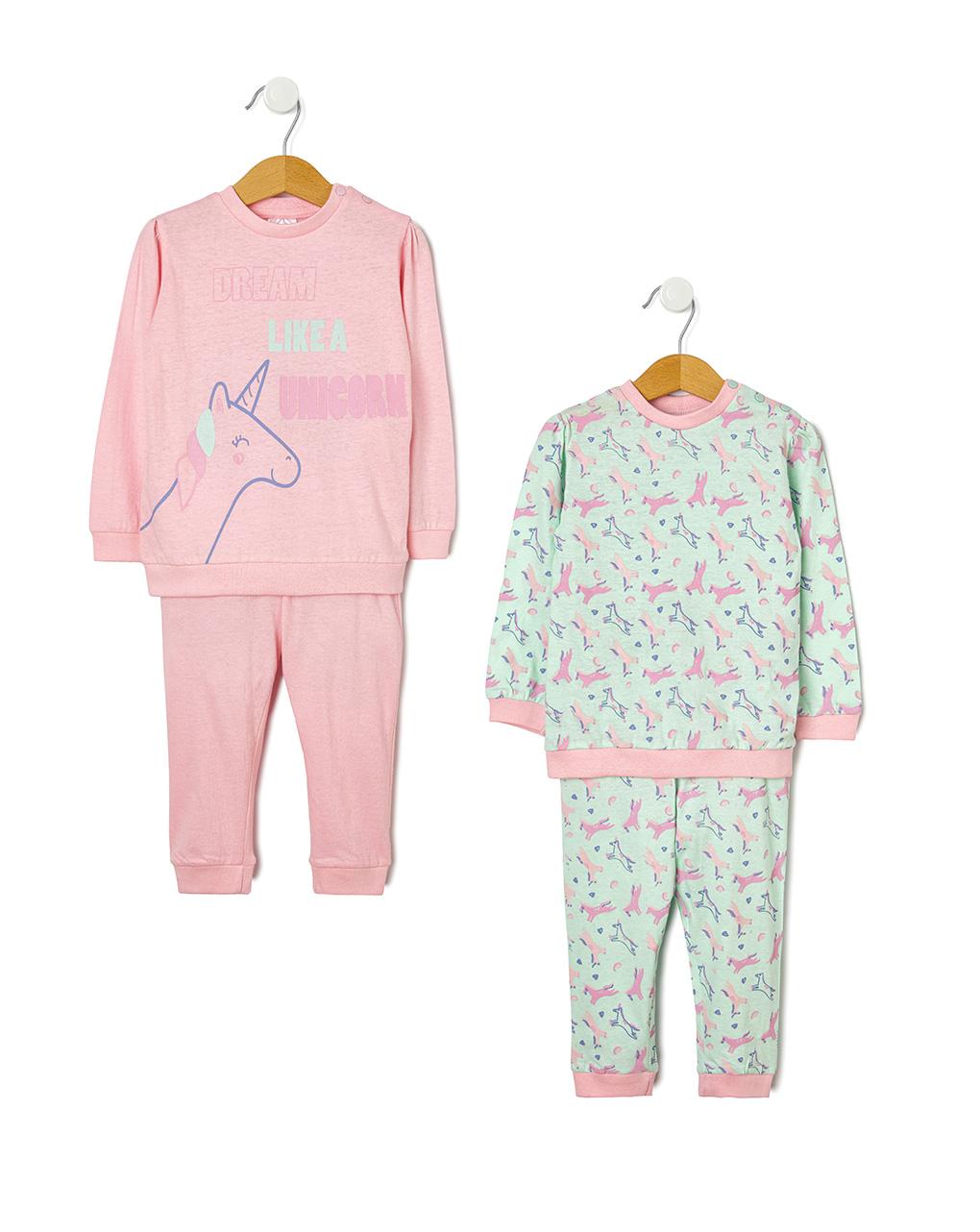 Pack 2 pigiami con stampa allover unicorni - Prénatal