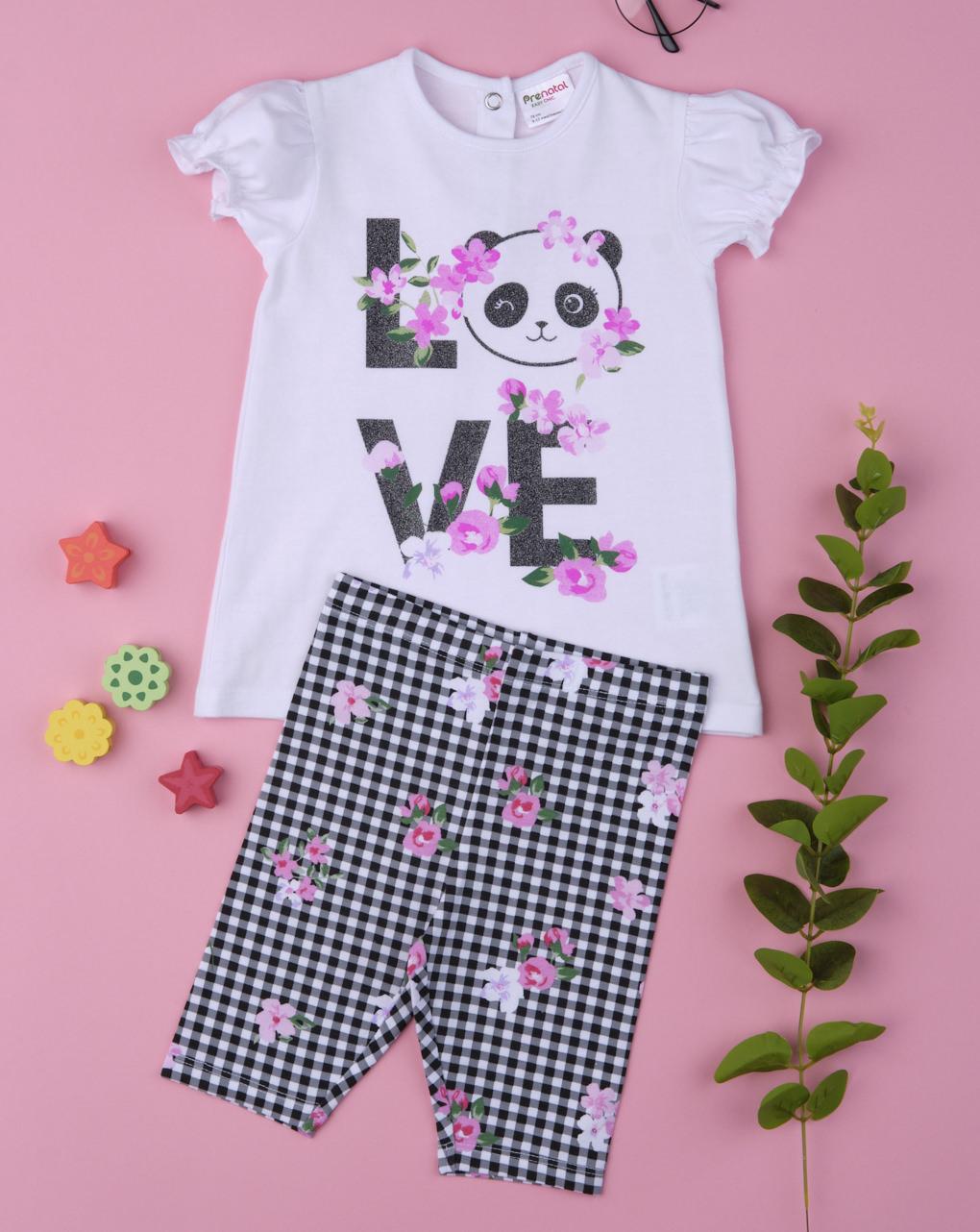 """Completo girl """"love panda"""" - Prénatal"""