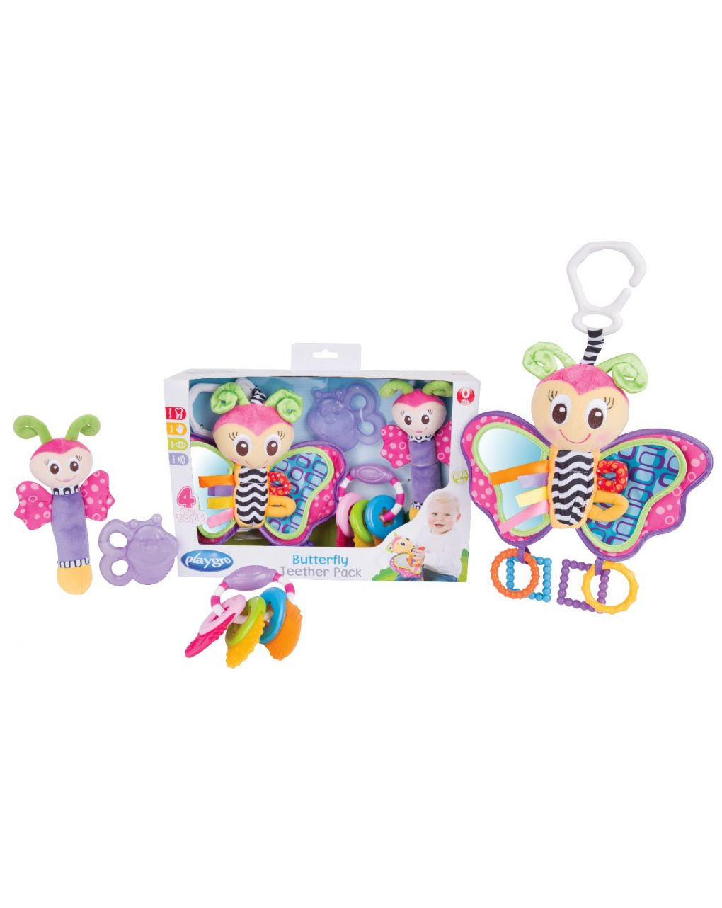 Playgro - butterfly teether pack - Playgro