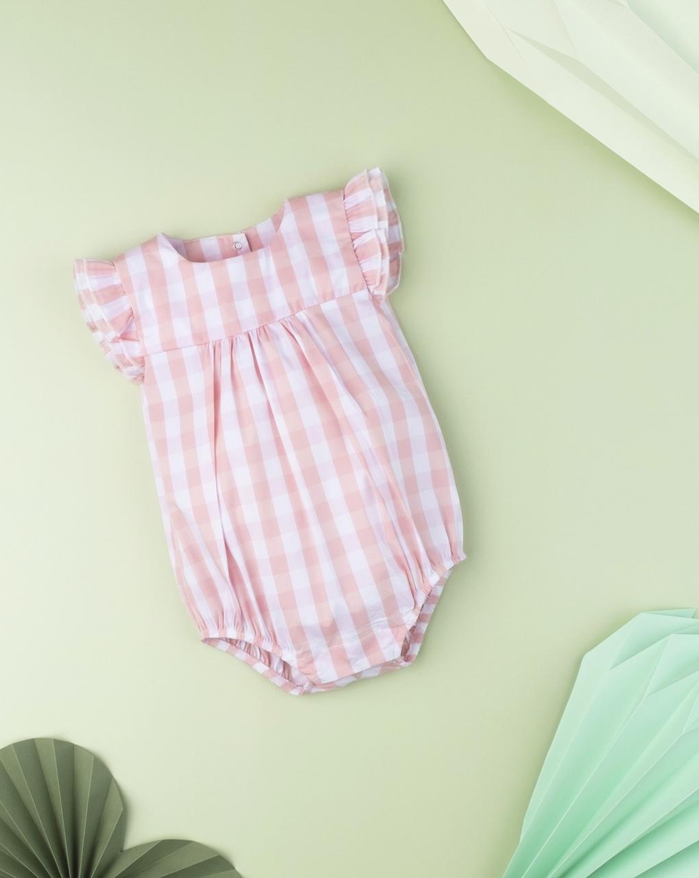 Pagliaccetto neonato  allover vichy - Prénatal