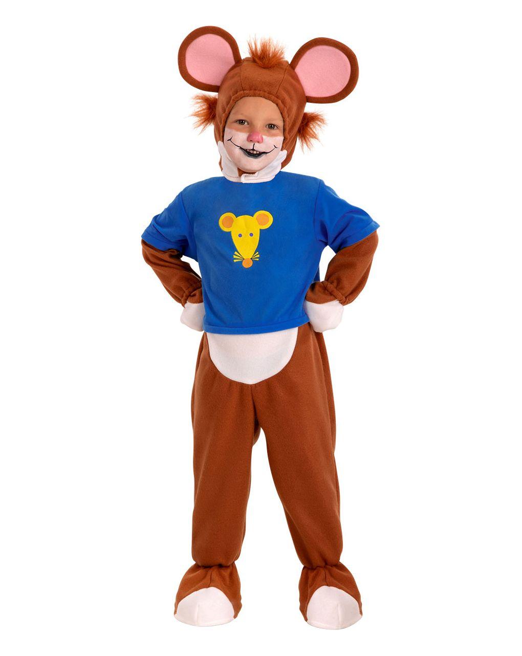 Costume topo tip in pile (24 mesi/4 anni) - Carnival Toys