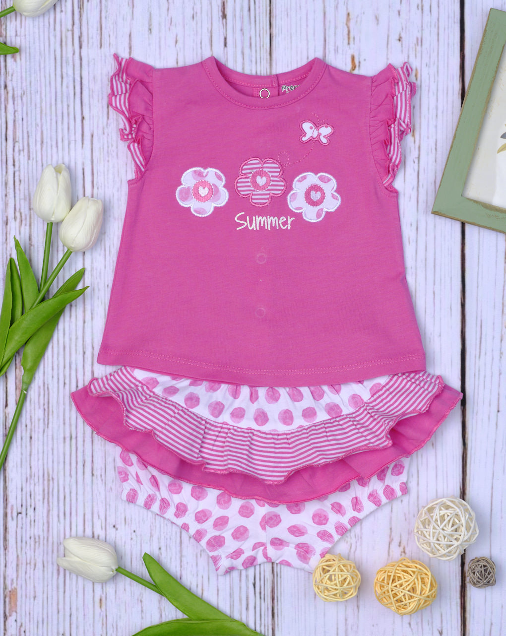 Completo jersey pink a pois - Essential by Prénatal