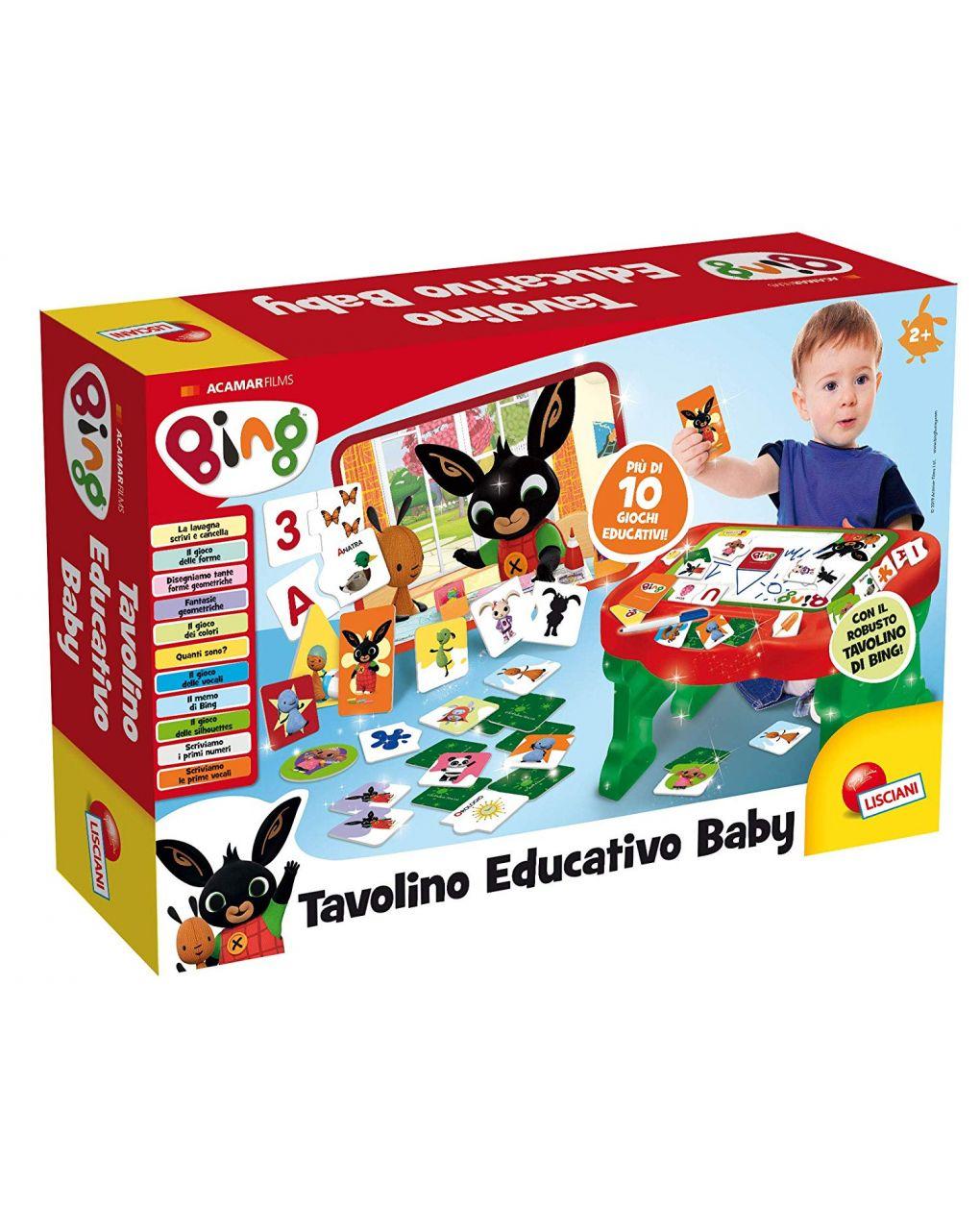Lisciani – bing banchetto educativo baby - Bing