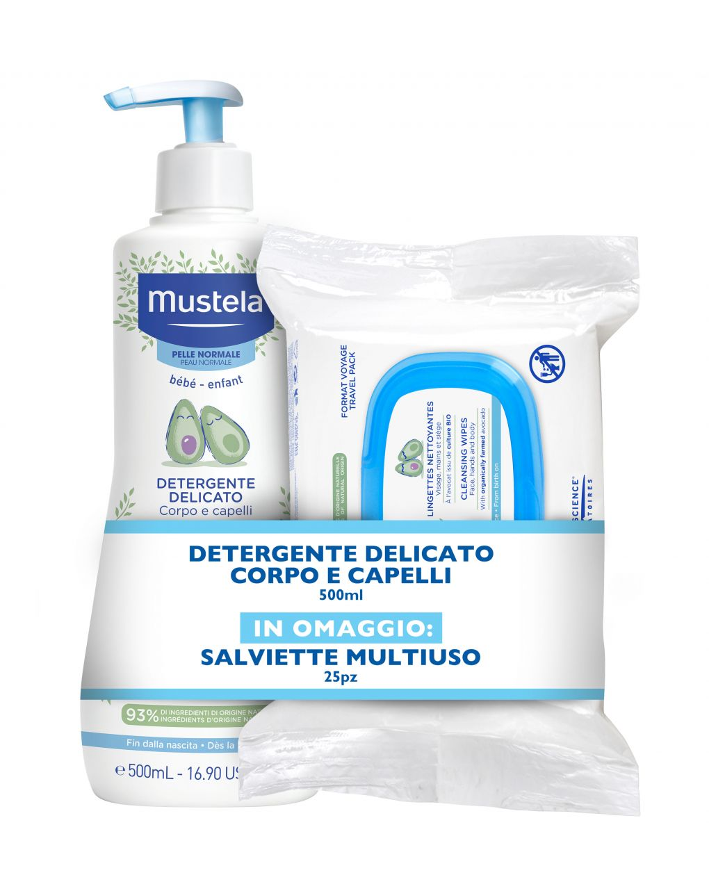Detergente delicato + salviette multiuso - Mustela