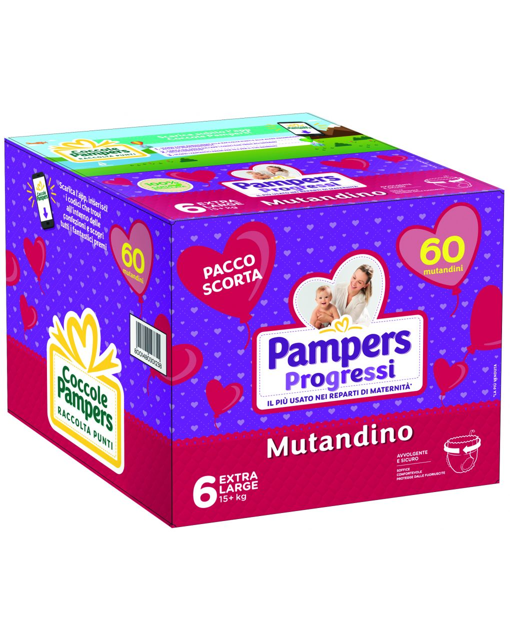 Pannolini mutandino quadri progressi tg. 6 (60 pz) - Pampers