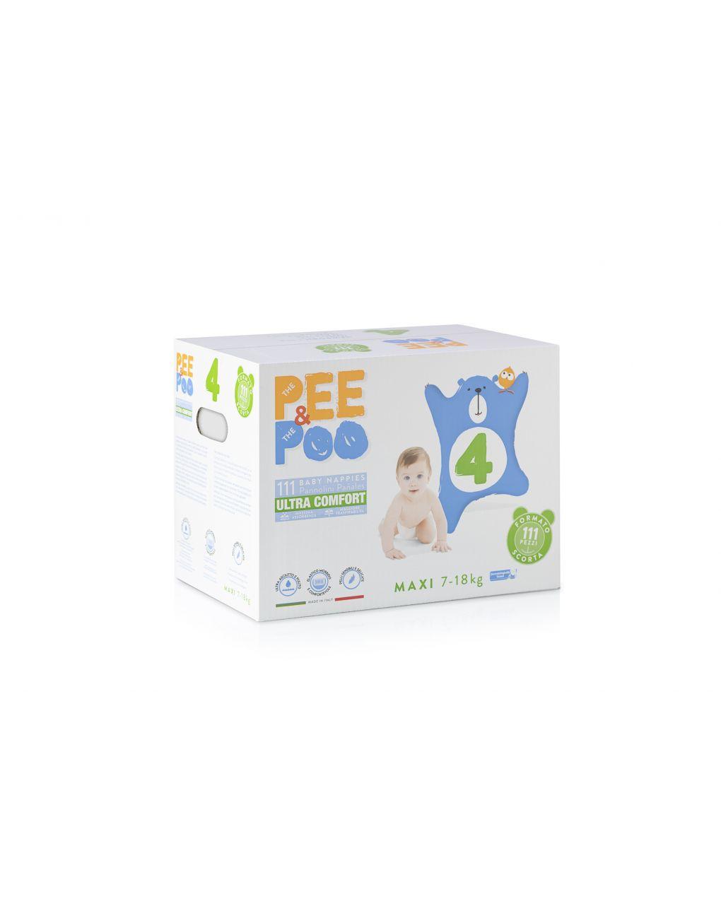 Pee&poo - jumbo maxi tg4 111 pz - The Pee & The Poo