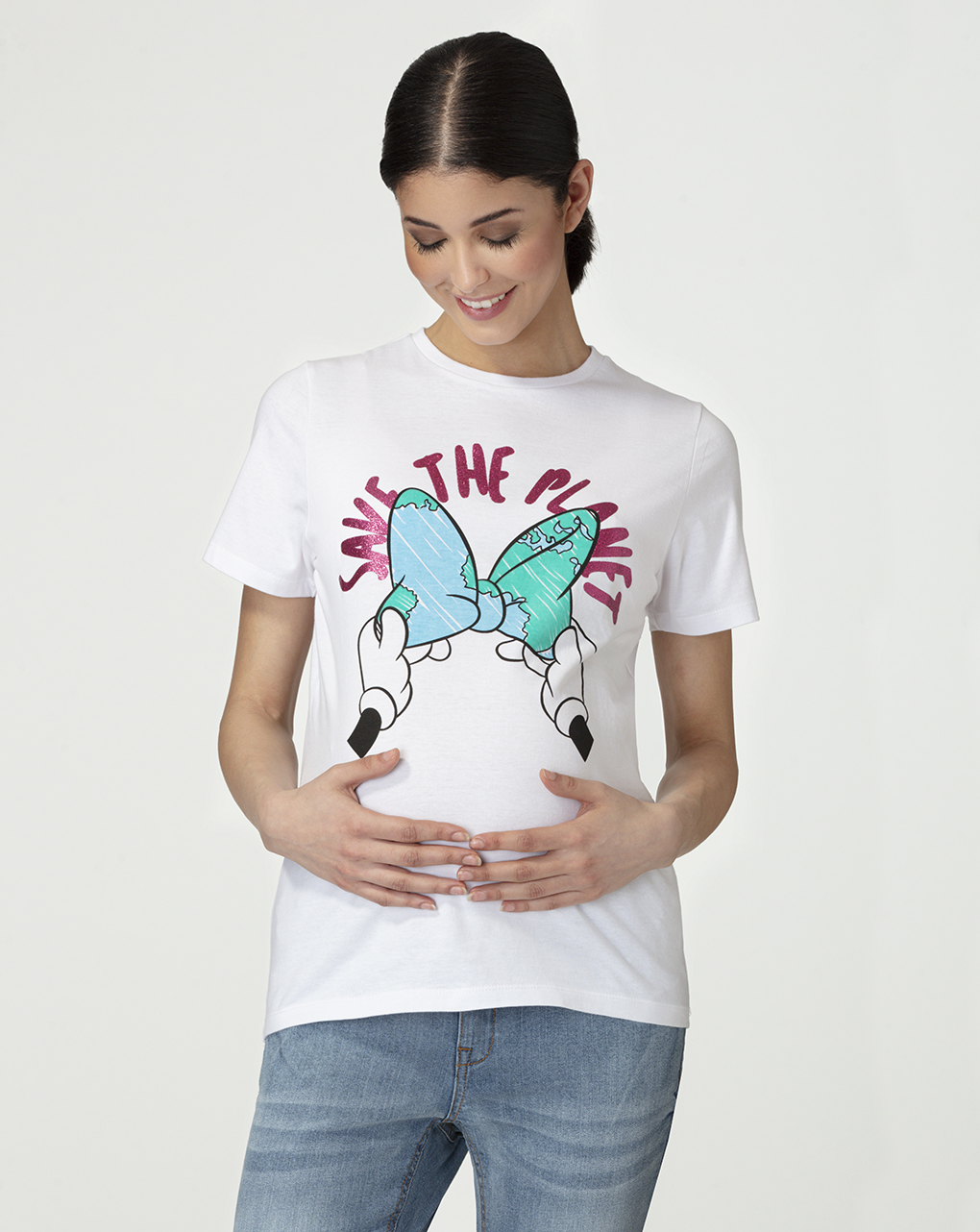 T-shirt premaman con stampa glitter - Prénatal