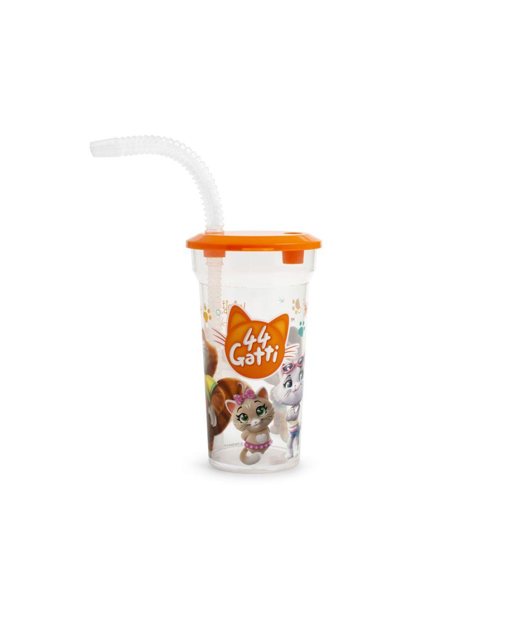Bicchiere 44 gatti con cannuccia - 44 Gatti