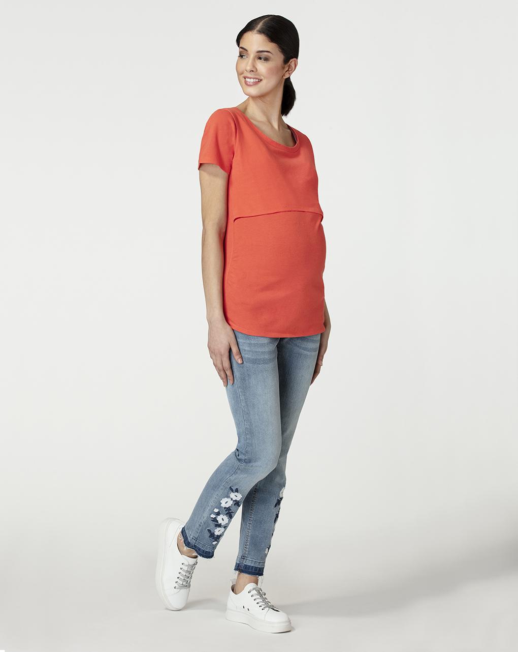 T-shirt allattamento corallo - Prénatal
