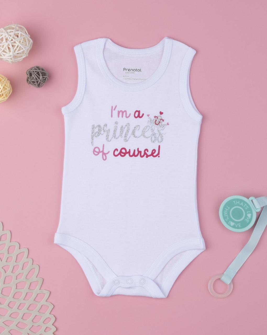 """Body girl """"i'm a princess of course"""" - Prénatal"""