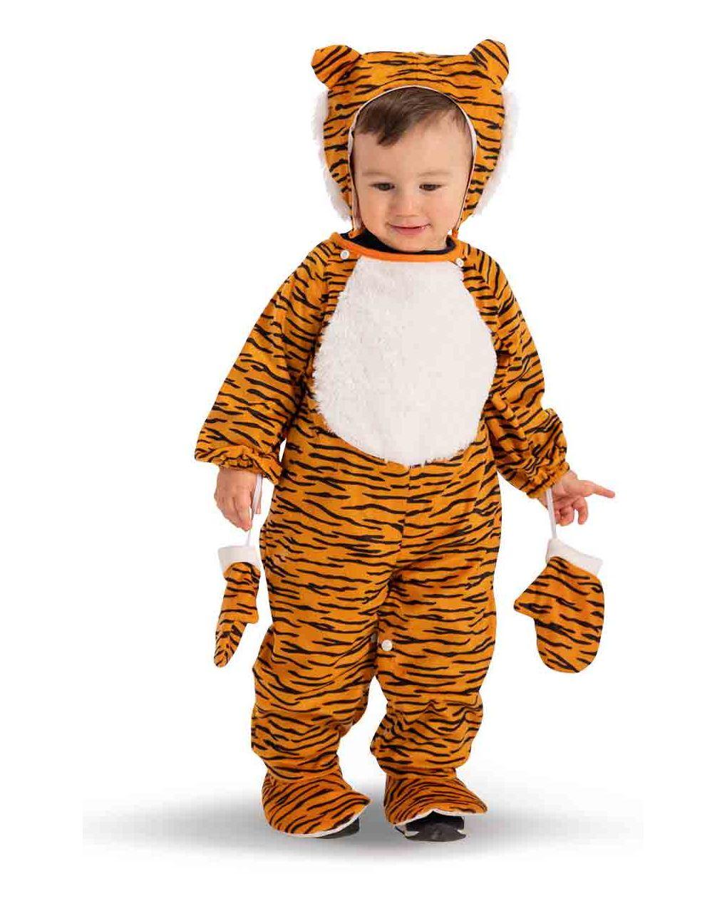 Tutina tigrotto in pellicetta con cappuccio e guanti (6/12 mesi) - Carnival Toys