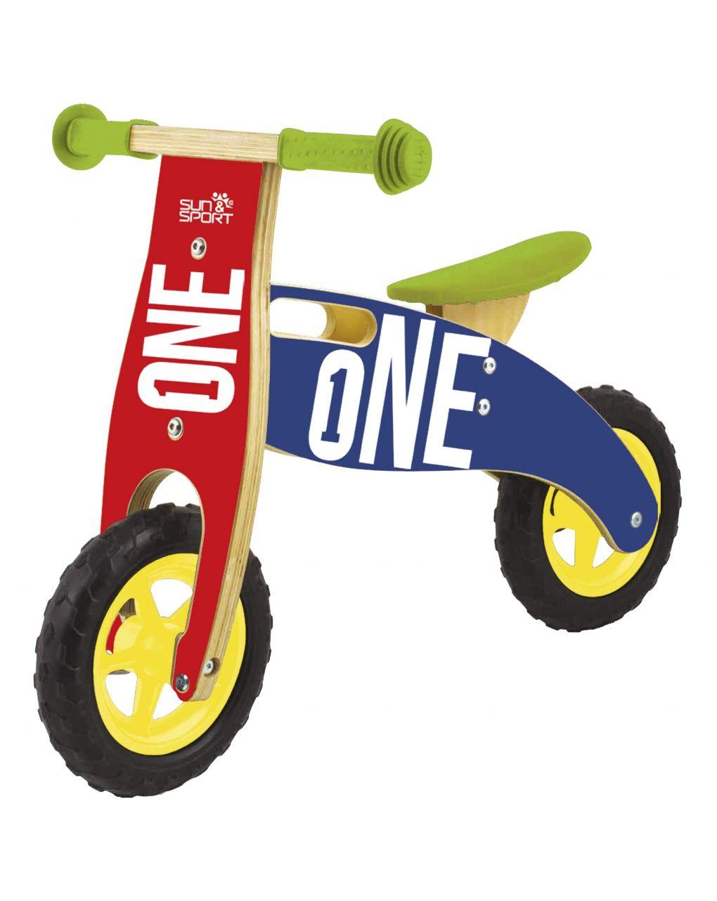 Sun&sport - balance bike in legno - Sun&Sport