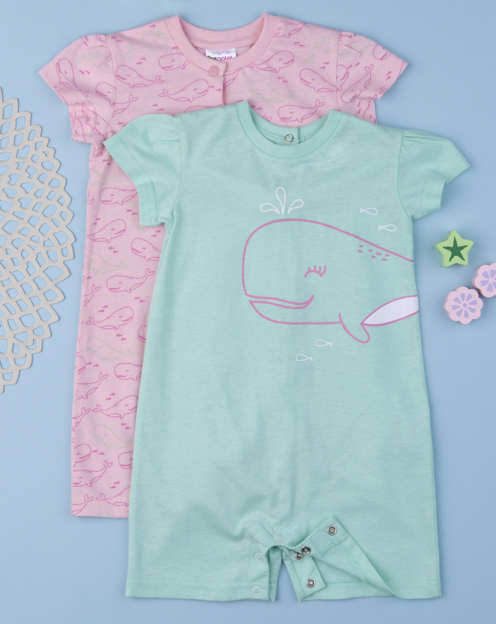 """Pack 2 pigiami bimba """"whale"""" - Prénatal"""