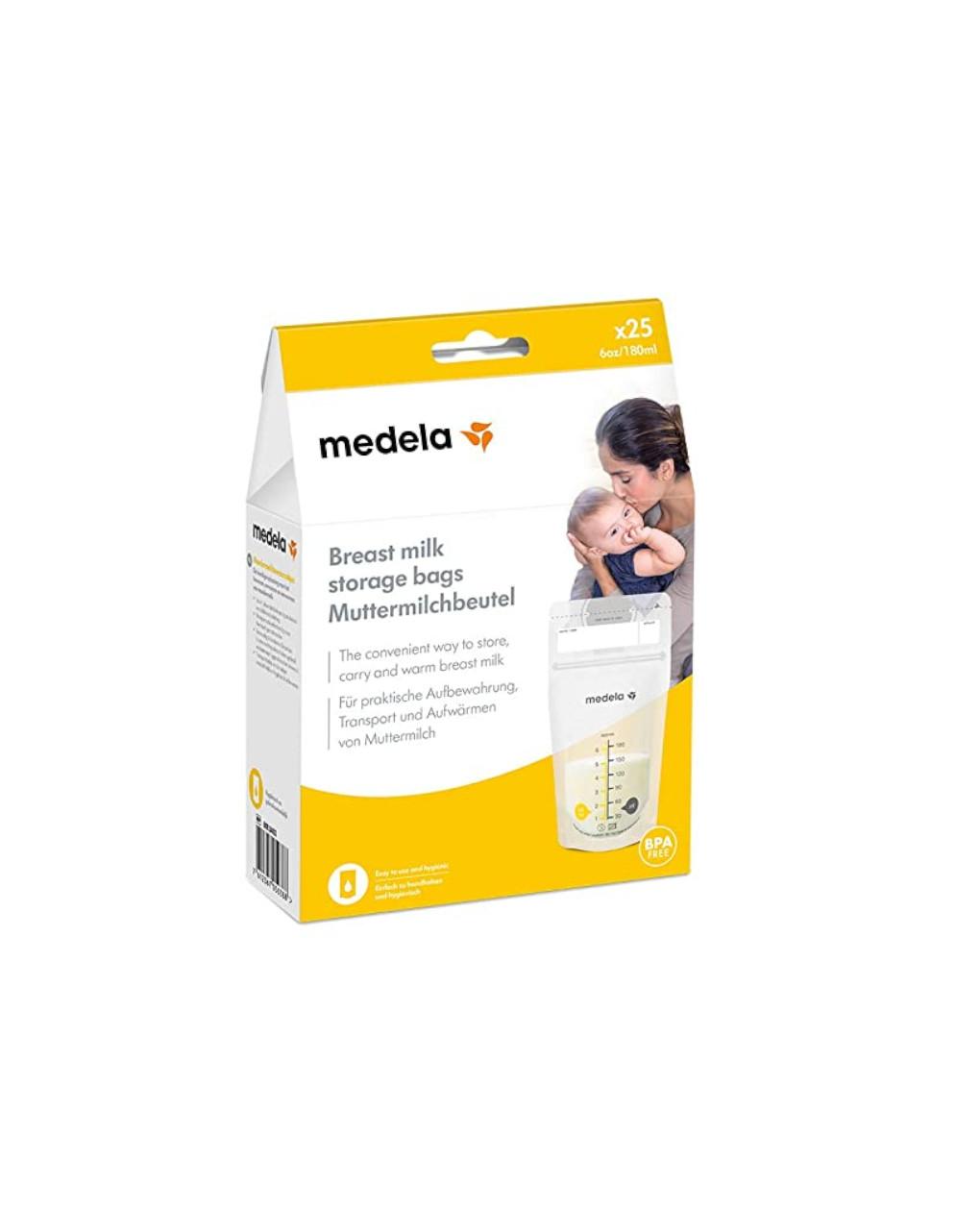 Sacche conservazione latte 180ml, 25 pz - Medela