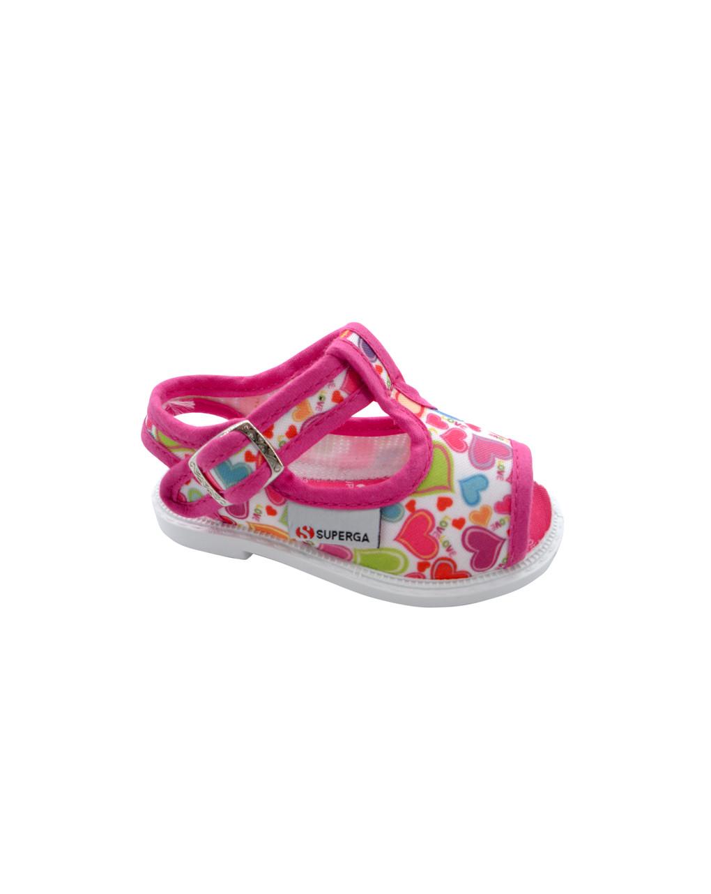 Sandalo allover cuori - Superga