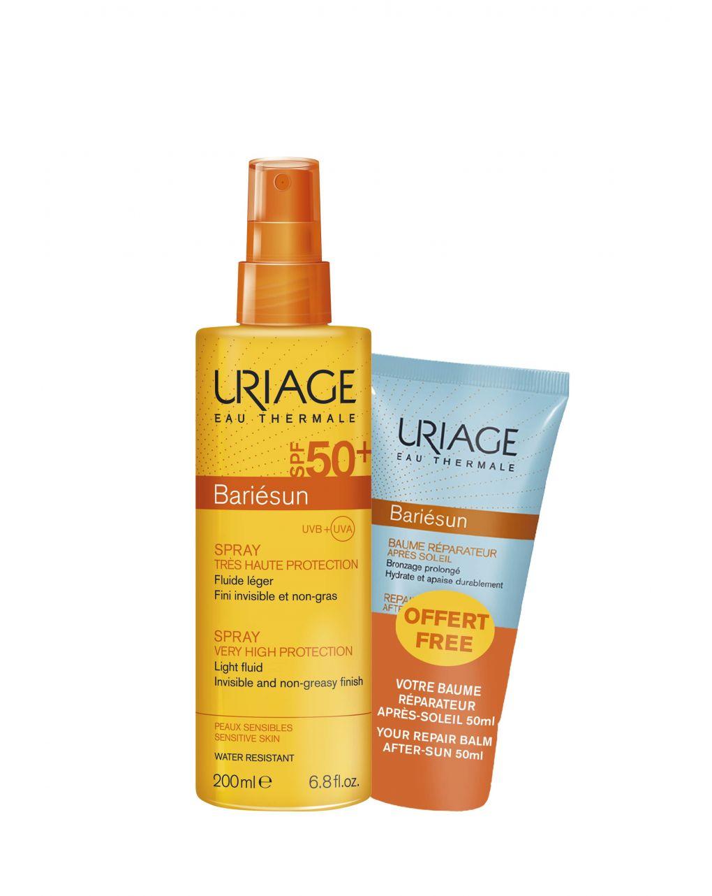 Bipack bariesun spray spf50+ 200ml + balsamo doposole 50ml - Uriage