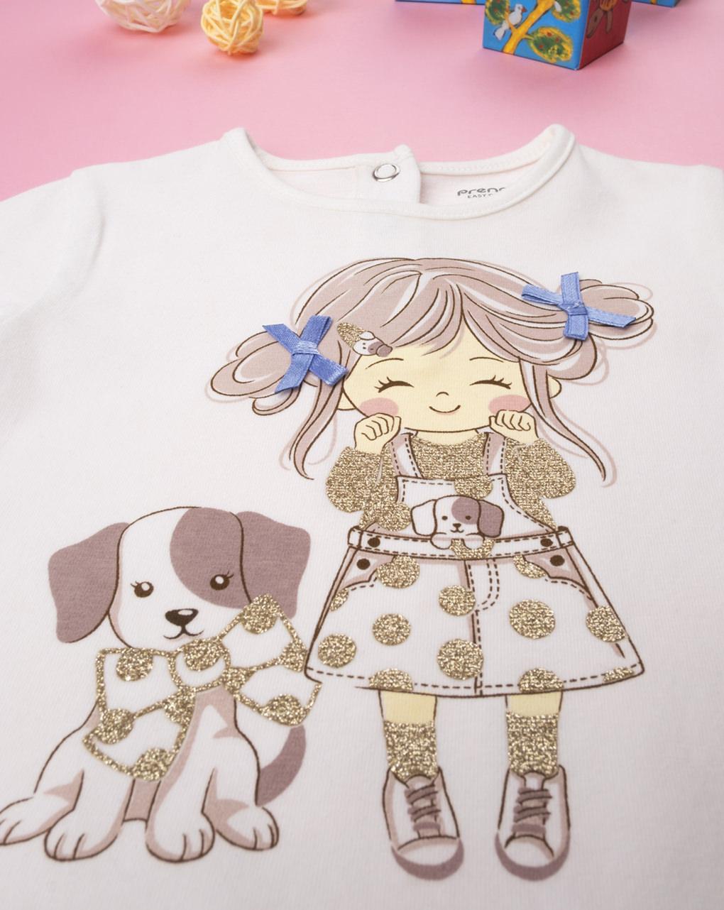 "T-shirt girl ""fiocchetto blu"" - Prénatal"
