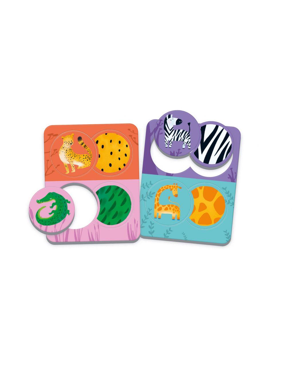 Clementoni - little match animali & texture - Clementoni