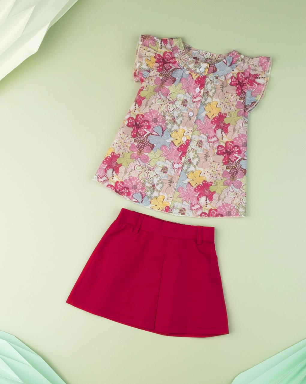 Gonna pantalone baby girl red - Prénatal
