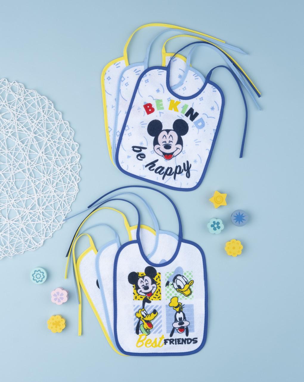 """Pack 6 bavaglini boy """"mickey mouse"""" - Prénatal"""