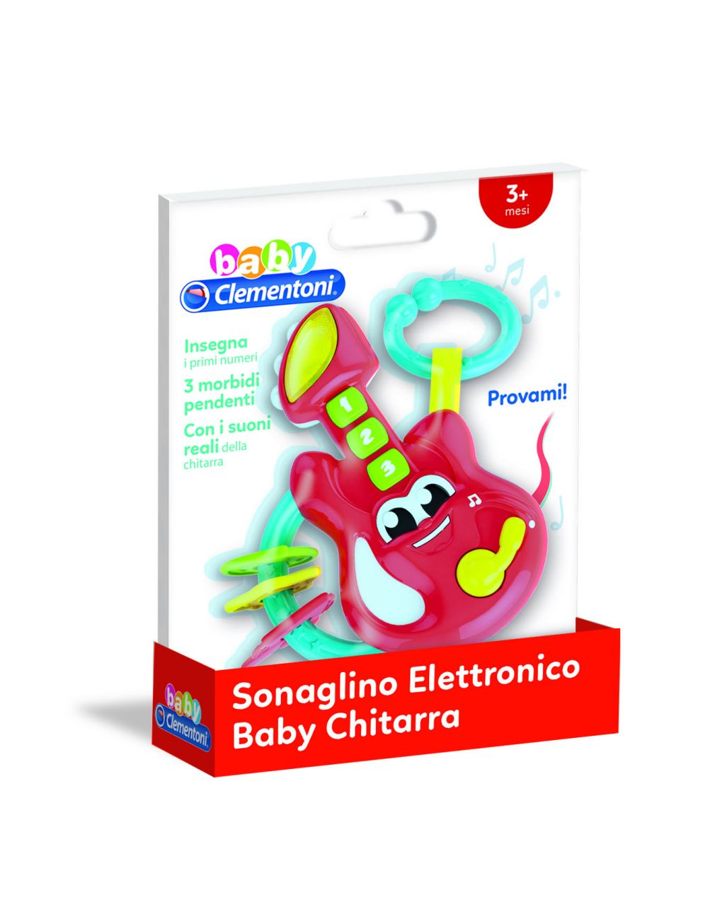 Baby clementoni - sonaglino elettronico baby chitarra - Clementoni