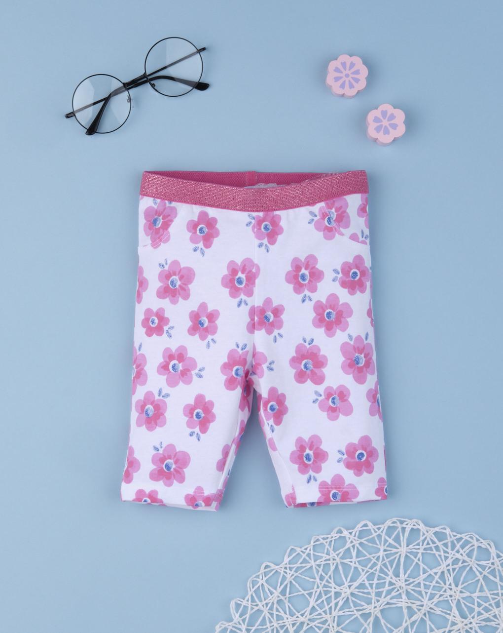 "Leggins bimba ""pink flower"" - Prénatal"
