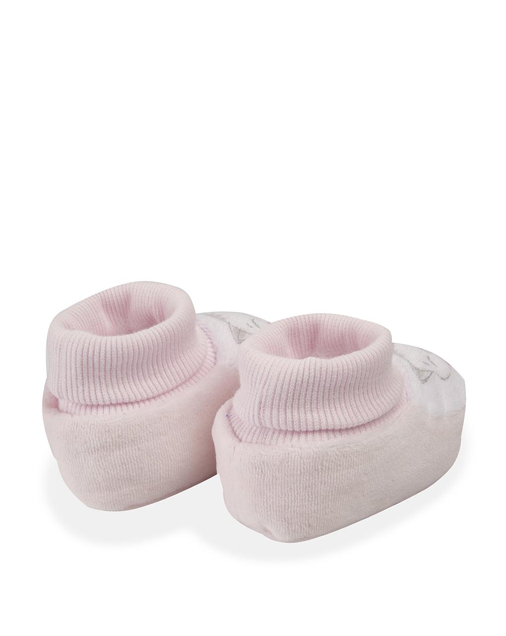 Babbucce in ciniglia rosa chiaro - Prénatal