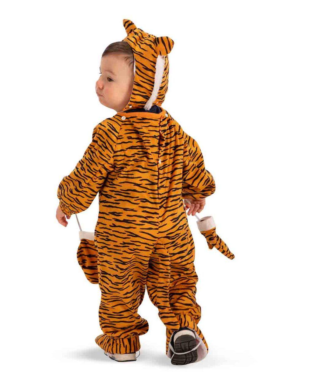 Tutina tigrotto in pellicetta con cappuccio e guanti (12/18 mesi) - Carnival Toys