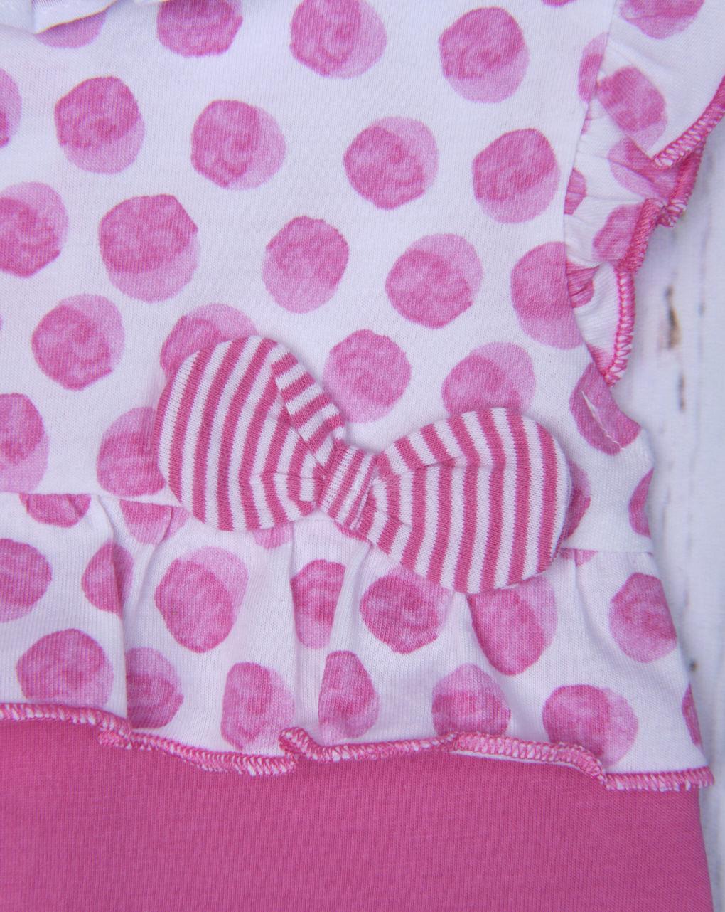 Pagliaccetto jersey bicolor a pois - Essential by Prénatal