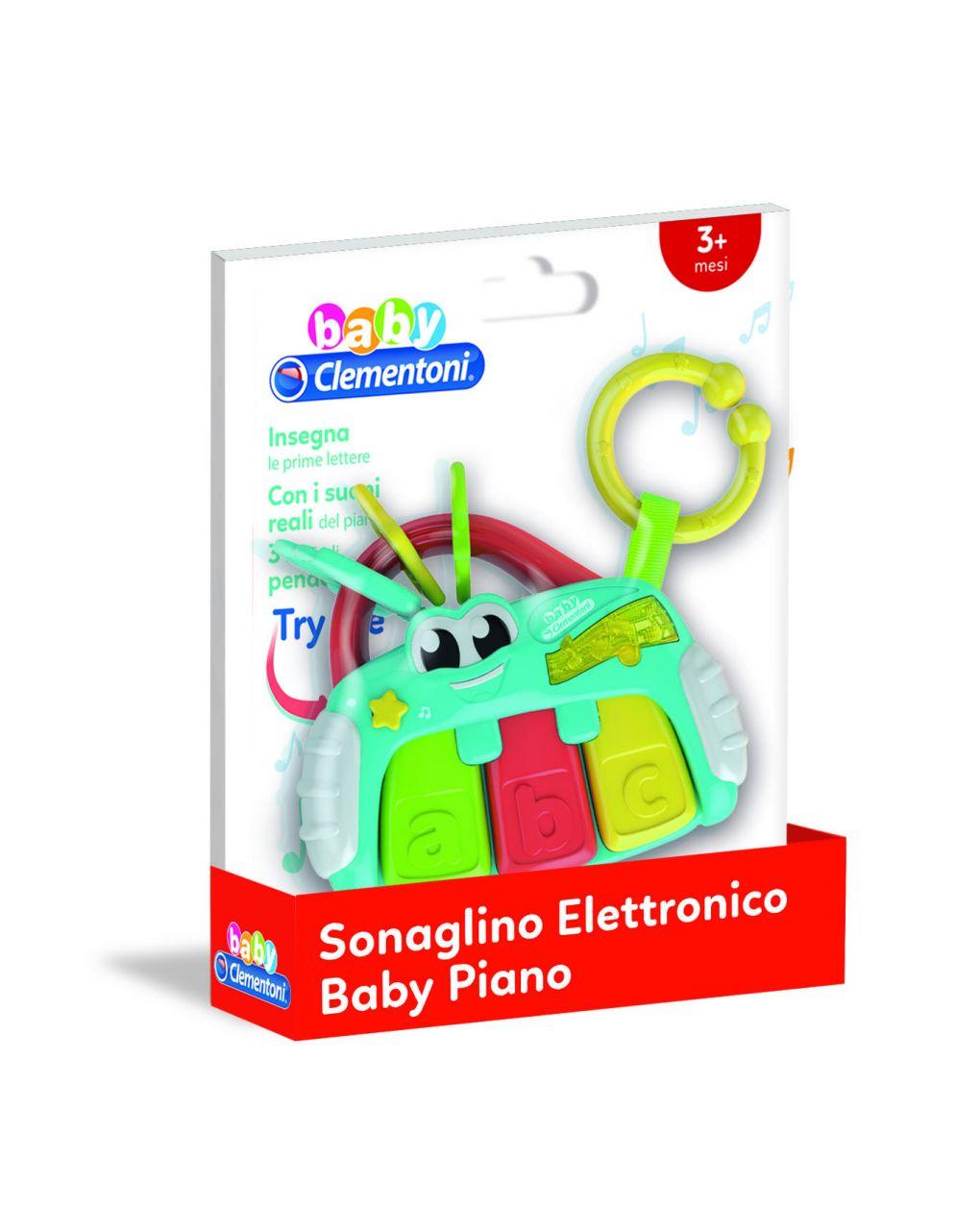 Baby clementoni - sonaglino elettronico baby pianola - Clementoni
