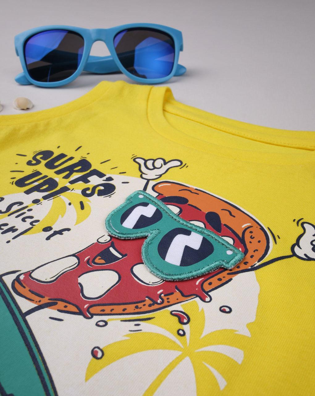 "Canotta boy ""surf's up pizza"" - Prénatal"