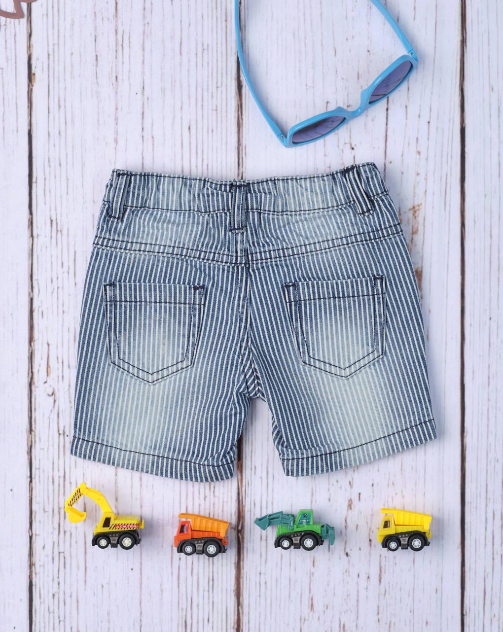 "Shorts bimbo ""blue denim rigato"" - Prénatal"